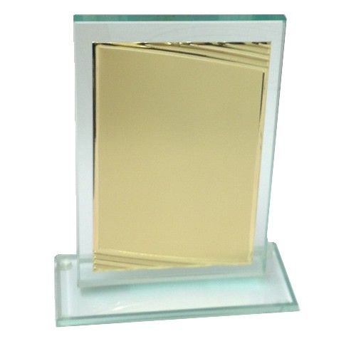 Glasplakette med graveringsplade