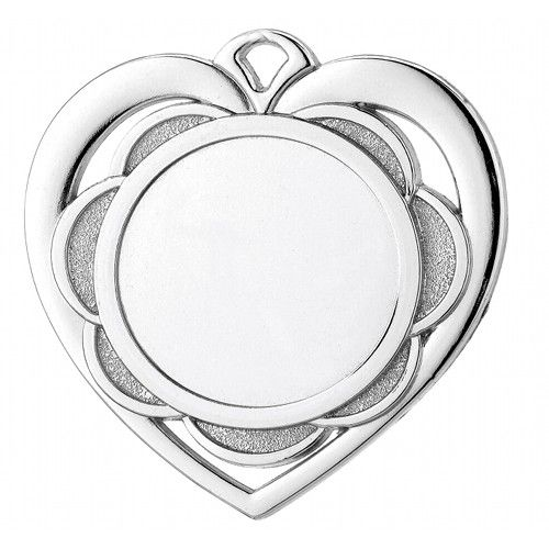 Hjerte Sølvmedaljer (inkl. emblem & medaljebånd)
