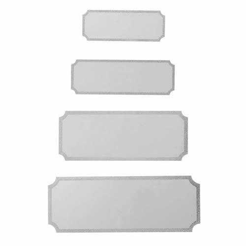 Standard sølv sokkelskilte
