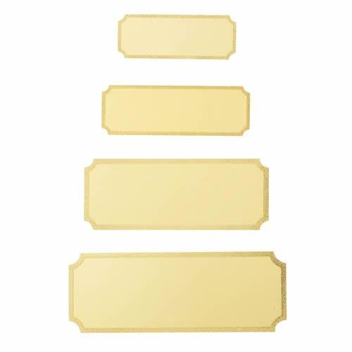 Standard guld sokkelskilte