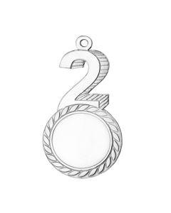 2. plads medalje (inkl. emblem & medaljebånd)